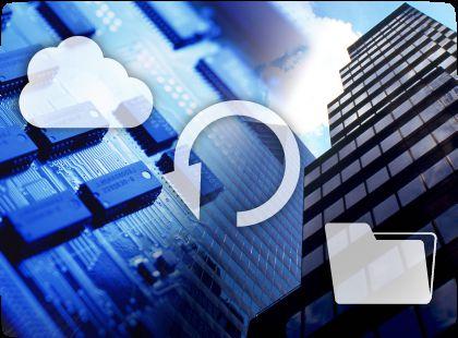 社内ファイルサーバをバックアップするイメージ