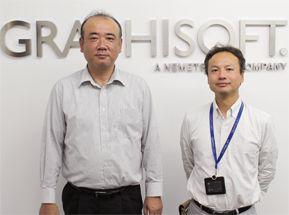 グラフィソフトの前田様と高橋様