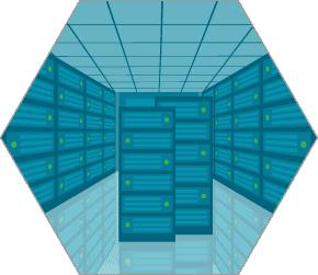 堅牢なデータセンターのイメージ